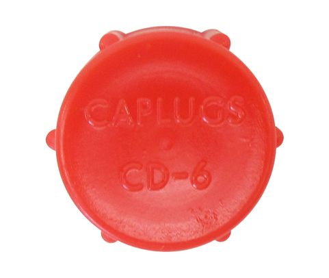 Caplug CD-6 Red 9/16-18 Threaded Plastic Dust & Moisture Cap
