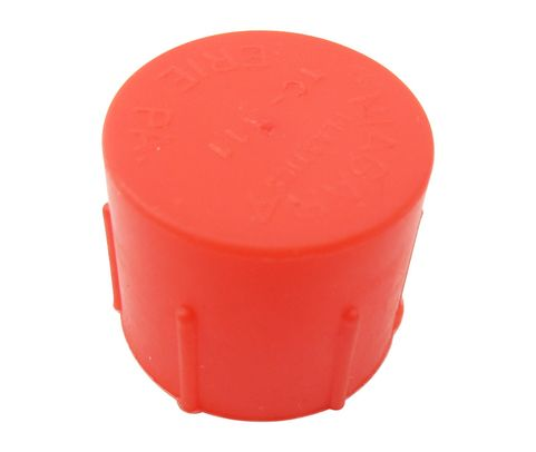 Caplug CD-TC-111 Red 7/8-18 Threaded Plastic Dust & Moisture Cap