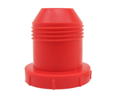 "Caplug PD-121 Red 3/4"" Threaded Plastic Dust & Moisture Plug"