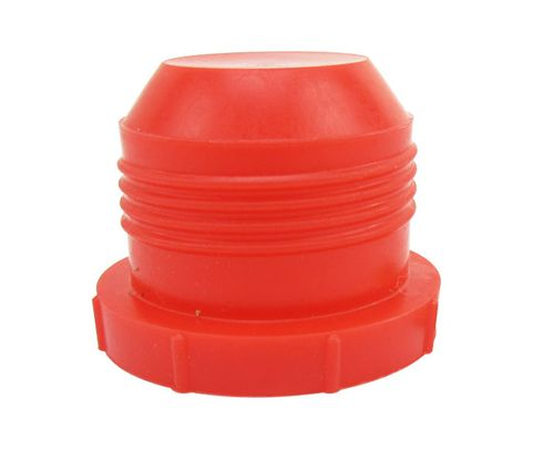 "Caplug PD-160 Red 1"" Threaded Plastic Dust & Moisture Plug"