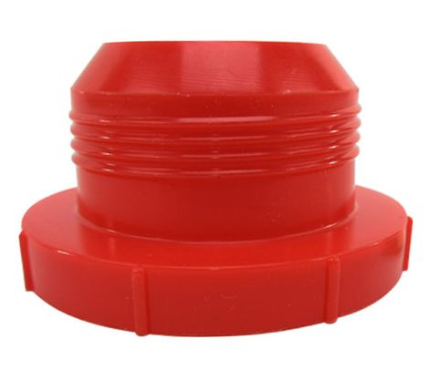Caplug PD-HF-26 Red 1-3/4-20 Threaded Plastic Dust & Moisture Plug