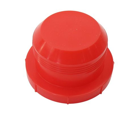 "Caplug PD-HF-30 Red 1-3/4"" Threaded Plastic Dust & Moisture Plug"