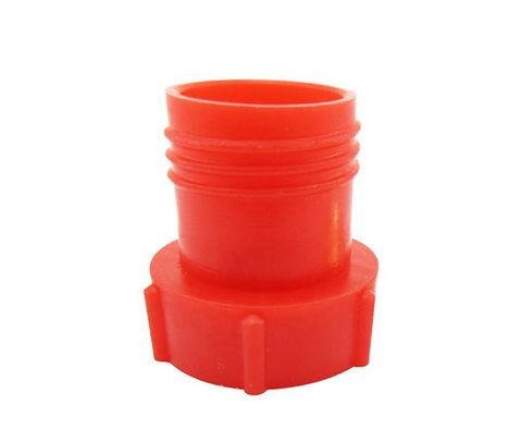 Caplug PDE-3 Red 3/8-24 Flareless Tube & Nut Threaded Plastic Plug