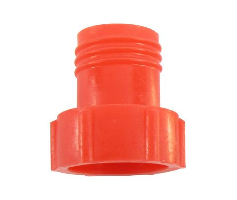 Caplug PDE-4 Red 7/16-20 Flareless Tube & Nut Threaded Plastic Plug