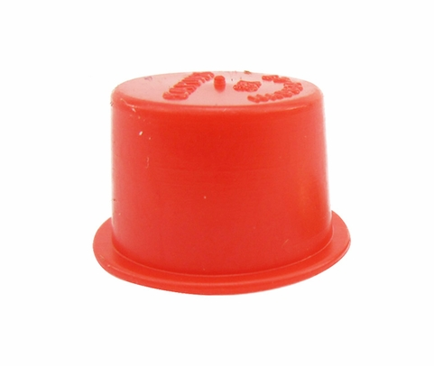 "Caplug T-195-S Red 1.574"" Tapered Dust & Moisture Cap"