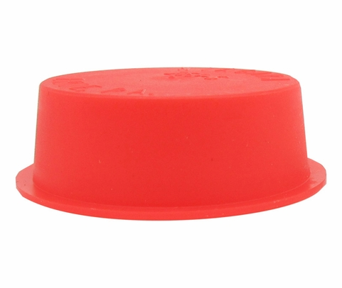 "Caplug T-253-S Red 1.35"" Tapered Dust & Moisture Cap"