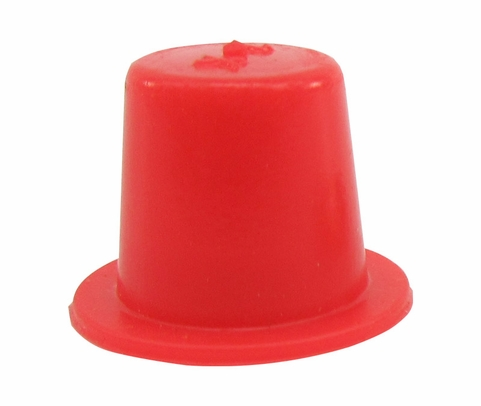 "Caplug T-2X Red .33"" Tapered Dust & Moisture Cap"