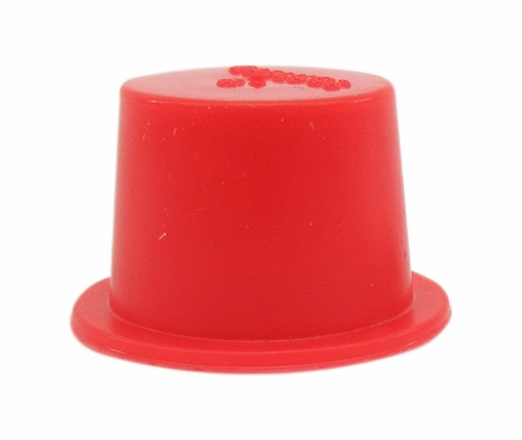 "Caplug T-6 Red .532"" Tapered Dust & Moisture Cap"