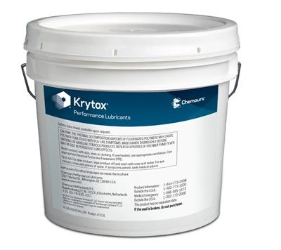 Chemours� Krytox� 240 AC White Aircraft Instrument, Fuel & Oxidizer Resistant Grease - 5 Kg Pail