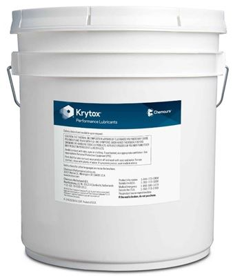Chemours� Krytox� GPL 205 White PTFE Thickened Standard General-Purpose Grease - 20 Kg Pail