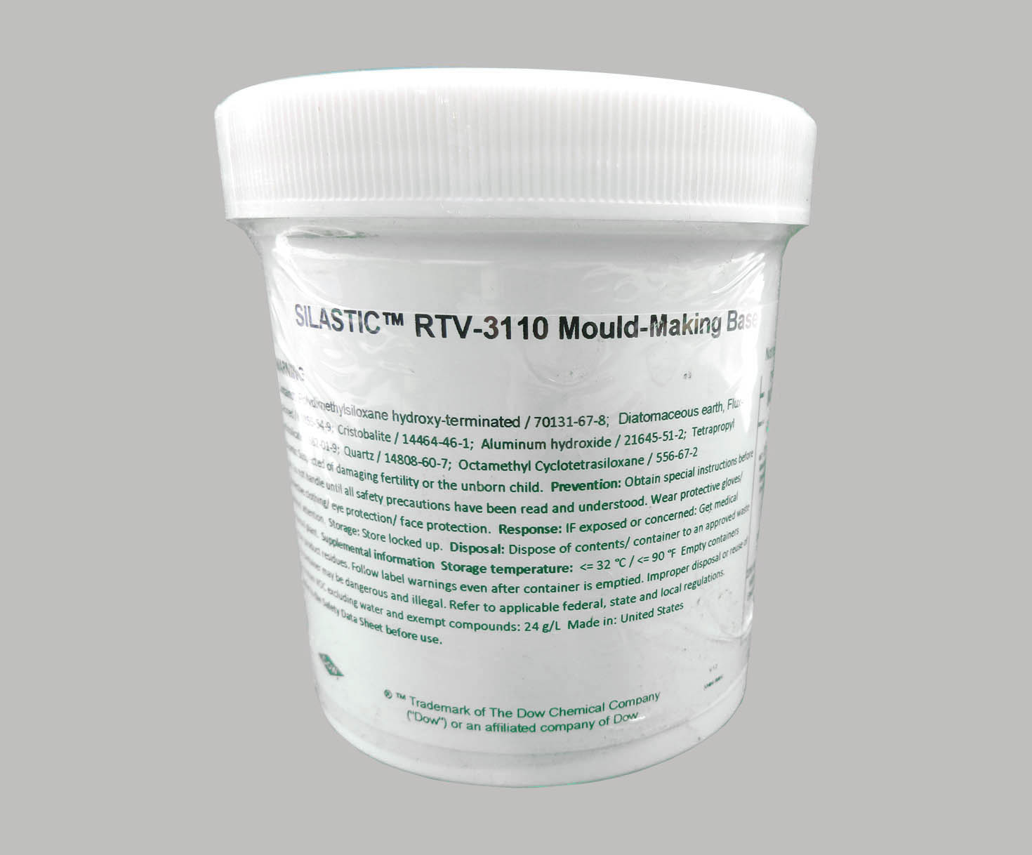 DOW® 4107656 SILASTIC™ RTV-3110 Off-White Mold-Making Base - 453 Gram (16  oz) Jar