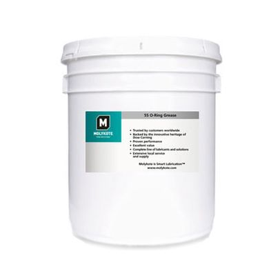 DOW® MOLYKOTE™ 55 White O-Ring Grease - 3.6 Kg (8 lb) Pail