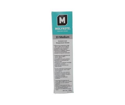 DOW� 4016023 MOLYKOTE� 33 Medium Off-White Extreme Low Temperature Grease - 150 Gram (5.3 oz) Tube