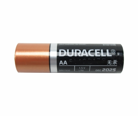 DURACELL® MN1500 Duralock® AA-cell Alkaline Button Top Battery - Uncarded Bulk