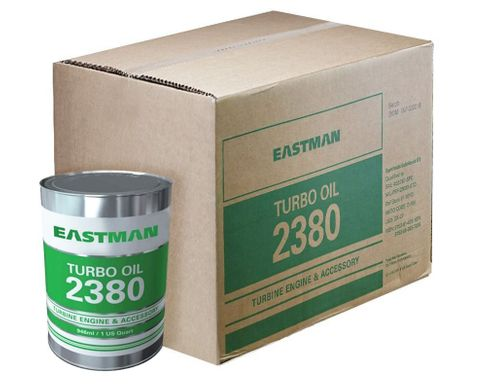 Eastman Turbo Oil 2380 Clear MIL-PRF-23699 Spec Aircraft Turbine Engine Lubricating Oil - 24 Quart (946 mL)/Case