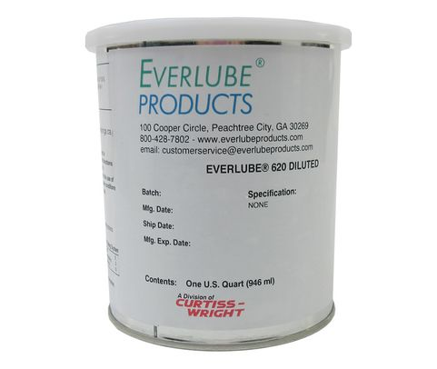 Everlube� 620 Diluted Gray/Black Standard Spec Thermally Cured MoS2/Graphite Based Solid Film Lubricant - Quart Can