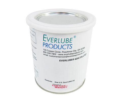 Everlube® 620C Diluted Gray/Black Everlube® Standard Spec Thermally Cured MoS2/Graphite Based Solid Film Lubricant - Quart Can