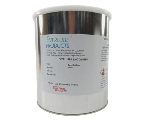 Everlube� 620C Diluted Gray/Black BMS 3-8F Type I Spec Thermally Cured MoS2/Graphite Based Solid Film Lubricant - Gallon Can