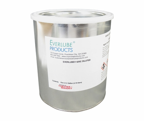 Everlube® 620C Diluted Gray/Black  Thermally Cured MoS2/Graphite Based Solid Film Lubricant - Gallon Can