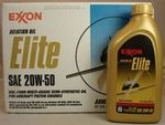 Exxon Mobil Elite 20W-50 Semi-Synthetic Ashless Dispersant Aircraft Piston Engine Oil - 12 Quart (946 mL)/Case