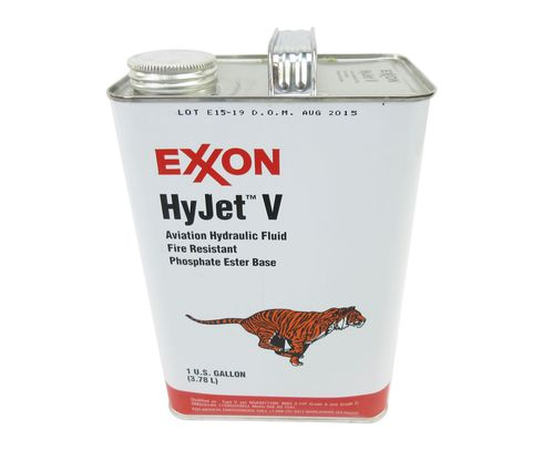 Exxon Mobil HyJet V Violet BMS 3-11P Type V, Grade A/C Spec Fire-Resistant Aviation Hydraulic Fluid - Gallon Can