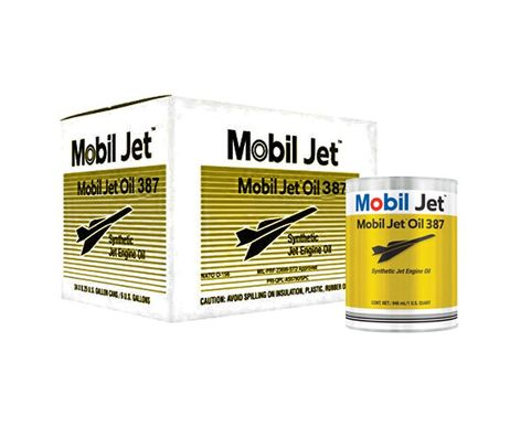 Exxon Mobil Jet™ Oil 387 Orange MIL-PRF-23699 Spec Aircraft-Type Gas Turbine Oil - 24 Quart (946 mL)/Case