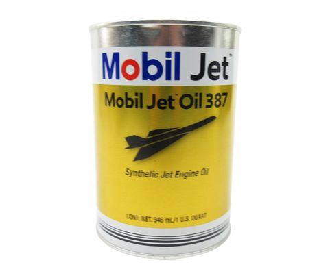 Exxon Mobil Jet™ Oil 387 Orange MIL-PRF-23699 Spec Aircraft-Type Gas Turbine Oil - Quart (946 mL) Can