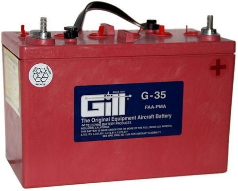 Gill G-35 Aircraft Battery without Acid