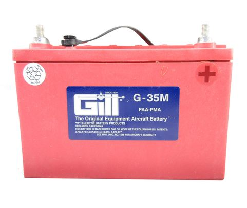 Gill G-35M Maule Aircraft Battery without Acid