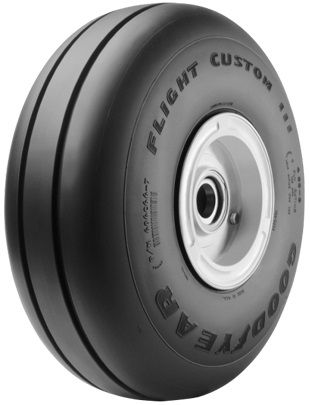 Goodyear® Aviation 505C46-4 Flight Custom III™ 5.00x5 4 Ply 160 mph Aircraft Tire