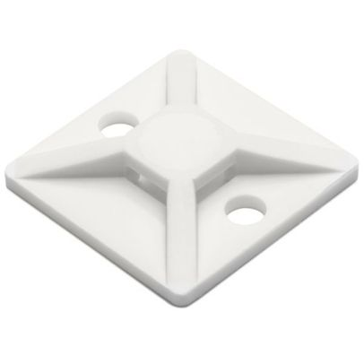 HellermannTyton MB-4C Cable Tie Mount - Natural - #8 - 18-50lb