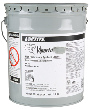Henkel 37061 LOCTITE� LB 8304� VIPERLUBE� High-Performance Synthetic Grease - 13.6 Kg (30 lb) Steel Pail