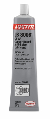 Henkel 51001 LOCTITE� LB 8008� C5-A� Copper Based Anti-Seize Lubricant - 28 Gram (1 oz) Tube