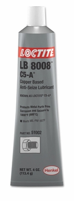 Henkel 51002 LOCTITE� LB 8008� C5-A� Copper Based Anti-Seize Lubricant - 113.4 Gram (4 oz) Tube