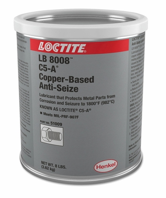 Henkel 51009 LOCTITE� LB 8008� C5-A� Copper Based Anti-Seize Lubricant - 3.62 Kg (8 lb) Can