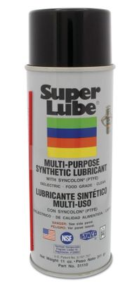 Super Lube� 31110 Translucent Multi-Purpose Synthetic Lubricant with Syncolon� (PTFE) - 311 Gram (11 oz) Aerosol Can