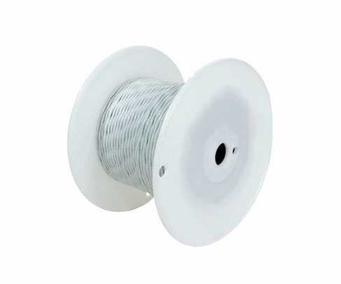 Military Specification M22759/8-16-9 White 16 AWG PTFE Tapes/Coated Fiberglass Braid Wire - Sold per Foot