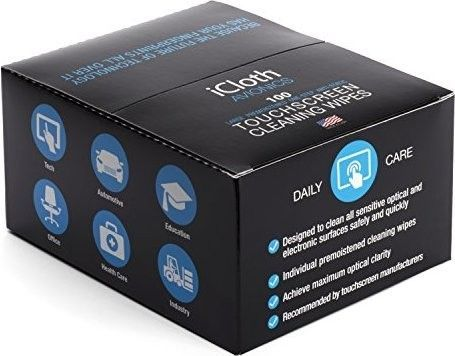 iCloth iCA100 Avionics Touchscreen Cleaning Wipes - 100 Wipe/Box