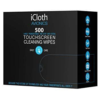 iCloth iCA500 Avionics Touchscreen Cleaning Wipes - 500 Wipe/Box