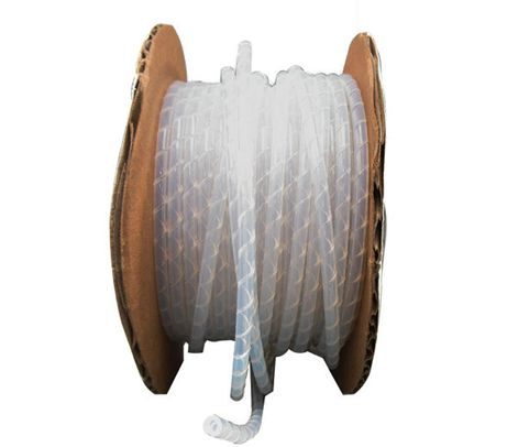 "ICO-Rally SWT-1/8 Natural 0.125"" OD x 0.030"" Wall Teflon Spiral Wrap Tubing - Sold by the Foot"