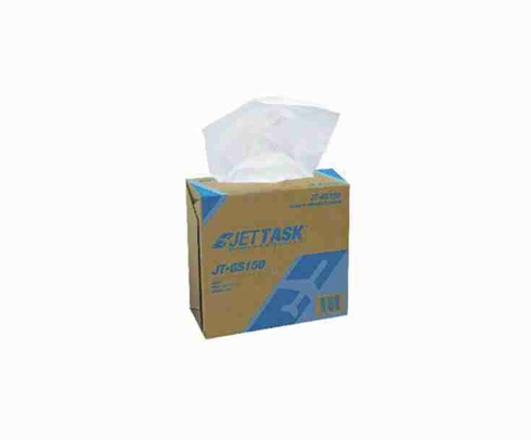 """JETTASK� JT-GS150 White 9.75"""" x 17"""" Glass & Surface Cleaning Wiper - 6 Ea - 150 Wipe/Pop-Up Boxes"""