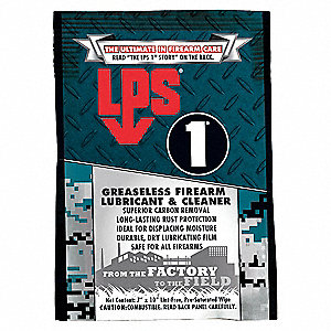 LPS� 00144 LPS-1 Amber Greaseless Firearm Penetrant Lubricant & Cleaner - 1 Wipe Pack