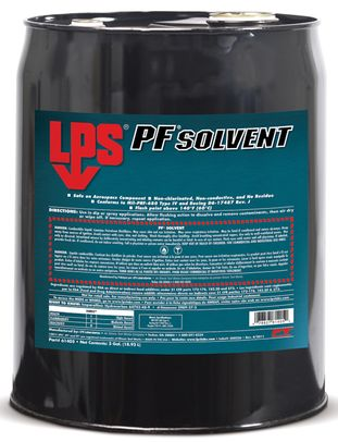 LPS� 61405 PF Solvent Clear/White Penetrating Degreaser - 5 Gallon Steel Pail