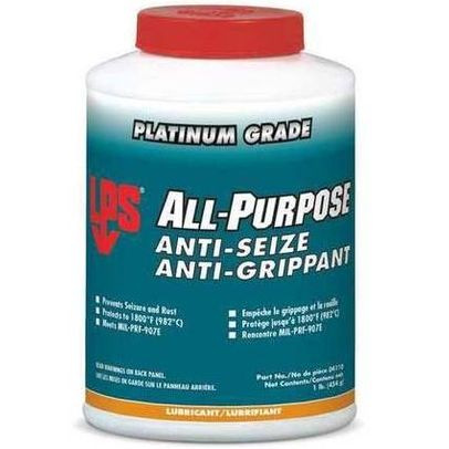 LPS� 04110 Dark Gray All-Purpose Moly-Fortified Anti-Seize Lubricant - 1 lb Brush-Top Jar