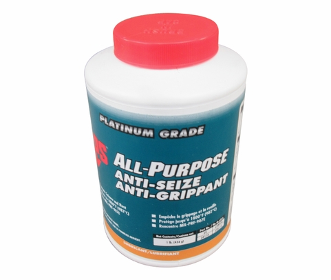LPS® 04110 Dark Gray All-Purpose Moly-Fortified Anti-Seize Lubricant - 1 lb Brush-Top Jar