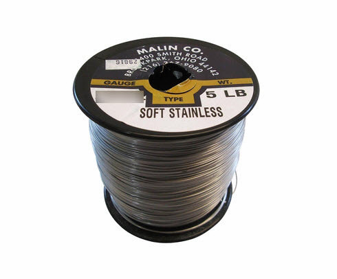 "Military Standard MS20995C15 Stainless Steel 0.015"" Diameter Safety Wire - 5 lb Roll"