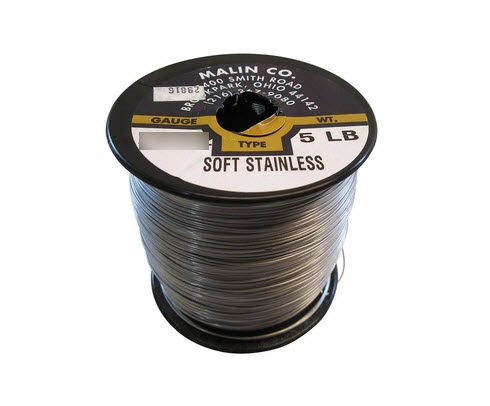 "Military Standard MS20995C24 Stainless Steel 0.024"" Diameter Safety Wire - 5 lb Roll"