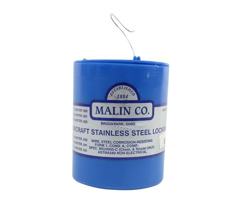 "Military Standard MS20995C28 Stainless Steel 0.028"" Diameter Safety Wire - 1 lb Roll"