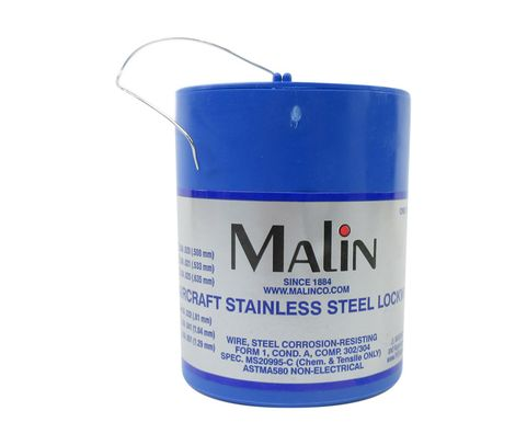 """Military Standard MS20995C32 Stainless Steel 0.032"""" Diameter Safety Wire - 1 lb Roll"""