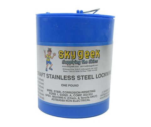 "Military Standard MS20995C51 Stainless Steel 0.051"" Diameter Safety Wire - 1 lb Roll"